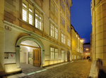 picture of the Mozarthaus Vienna at night - exterior view