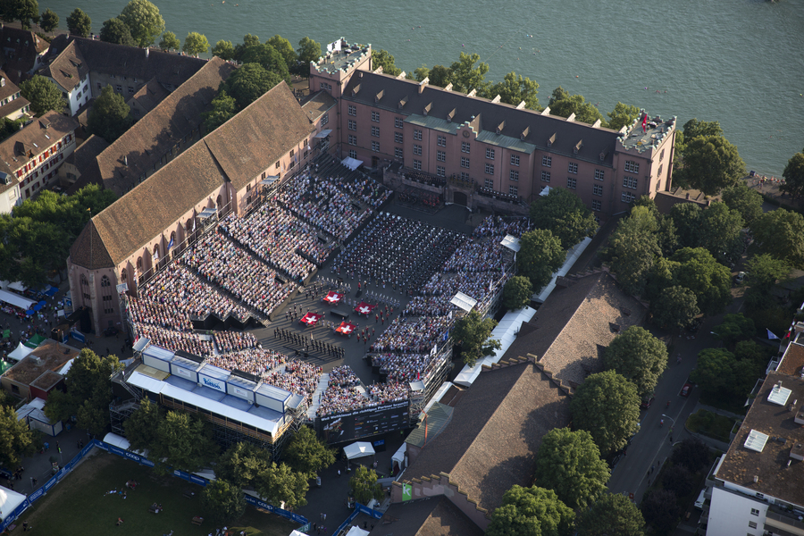Basel Tattoo aerial photo (c) Patrick Straub