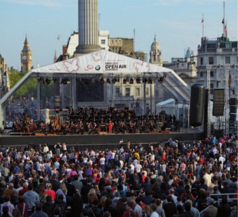 """BMW LSO Open Air Classics"" on Trafalgar Square in London"