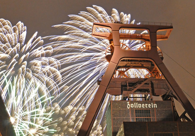 firework at the Zollverein